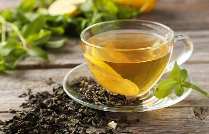 درمان خشکی دهان با چای سبز