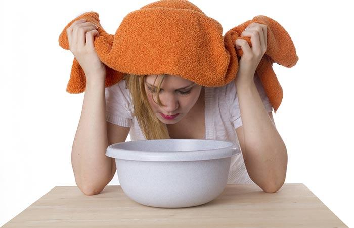 درمان خانگی سینوزیت با بخور