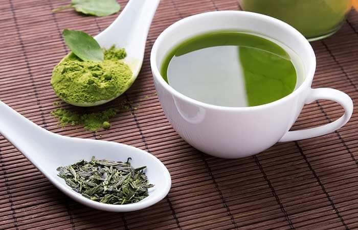 ماسک چای سبز برای درمان جوش