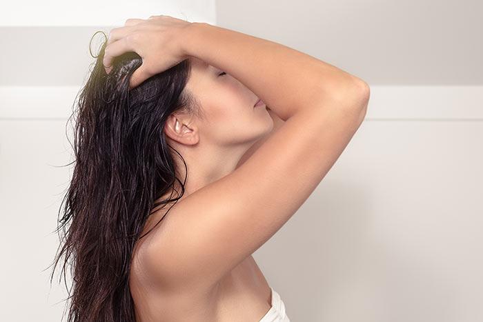 ماساژ موی بلند