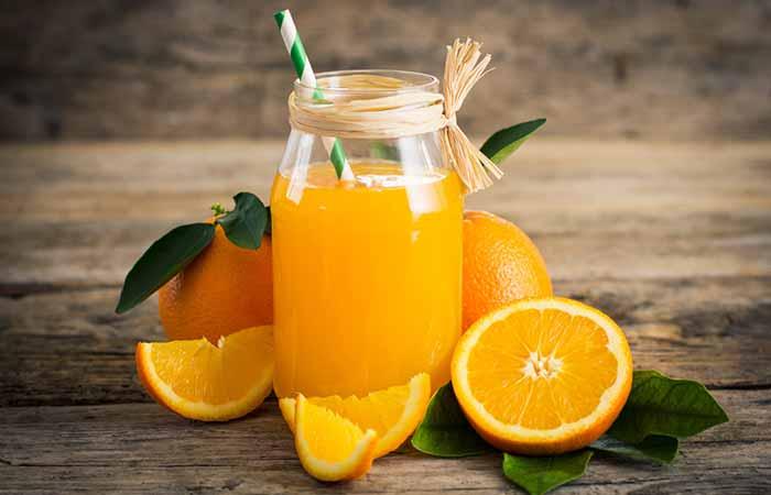 رفع خشکی دهان با آب پرتقال