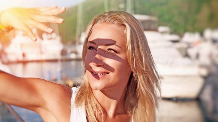 تاثیر نور خورشید بر روی پوست