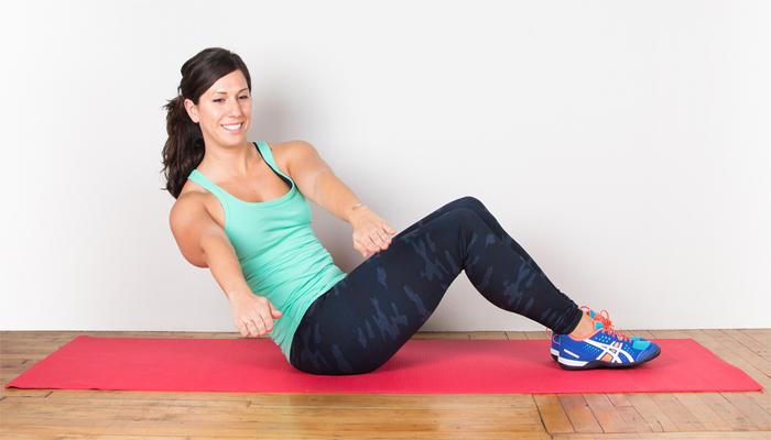 حرکت منحنی معکوس برای لاغری شکم و پهلو