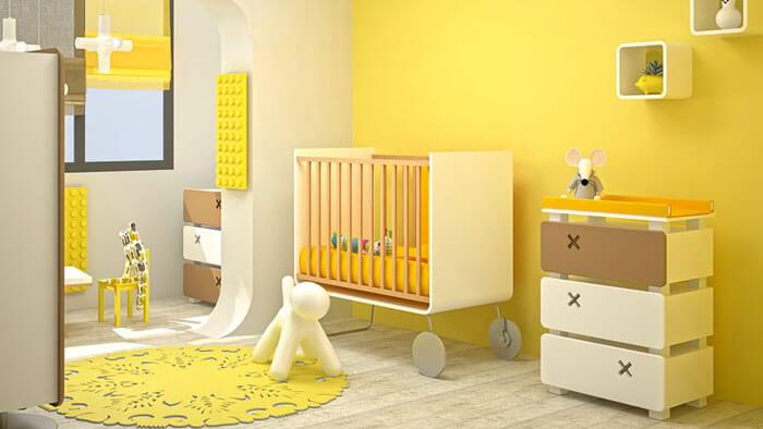 اتاق کودک زرد
