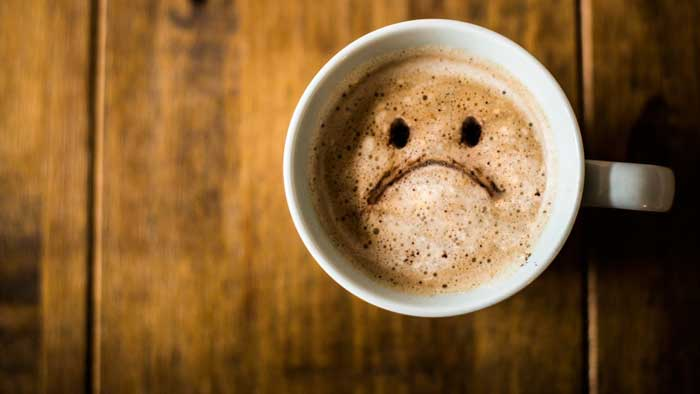 مصرف زیاد کافئین و احساس خستگی